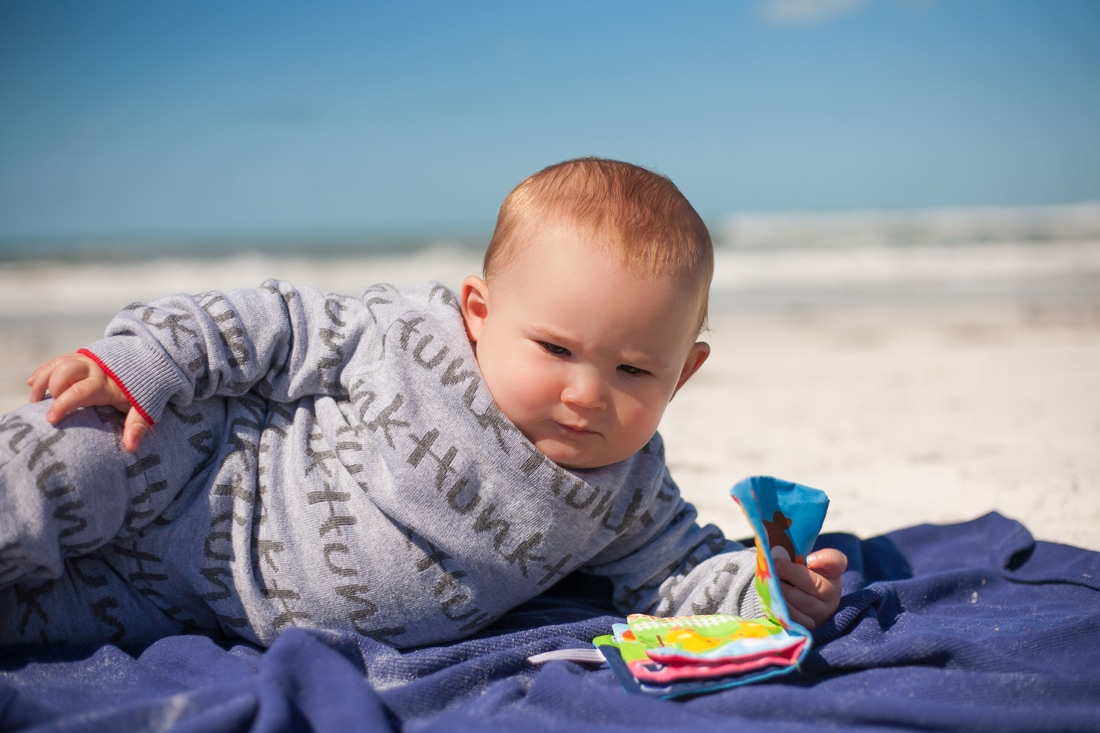 clearwater beach baby photography