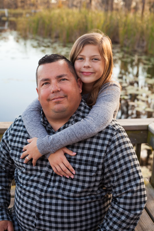 Father Daughter portrait taken in New Port Richey
