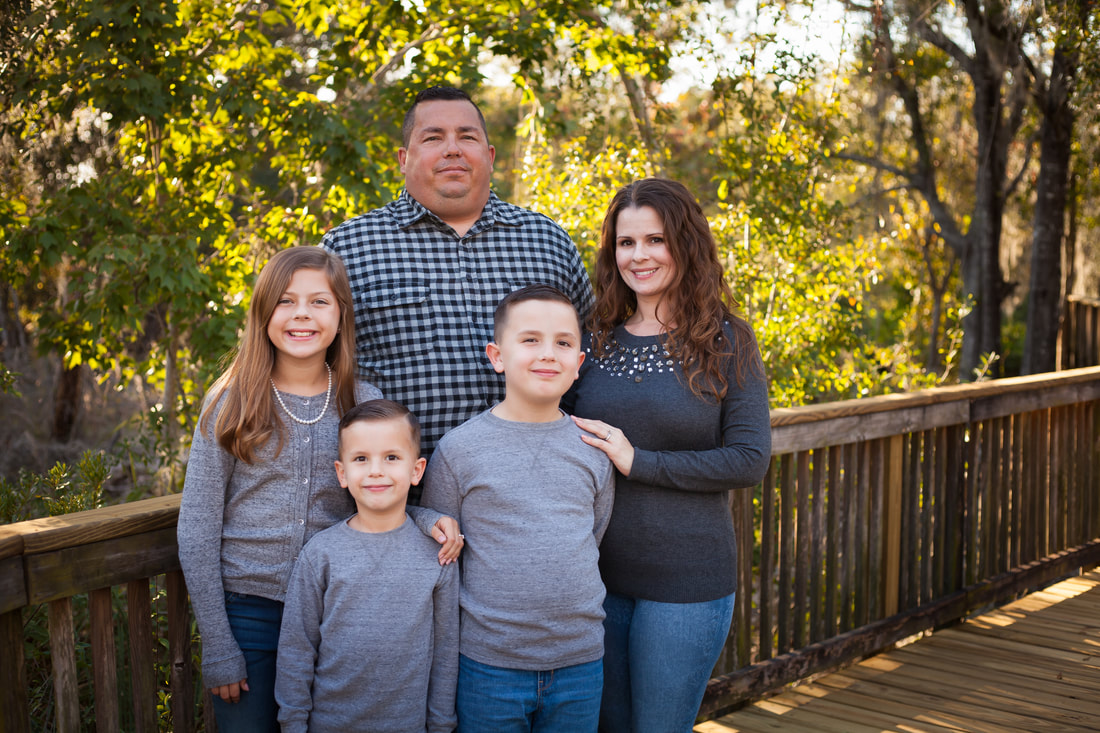 Family of four Portrait in New Port Richey FL