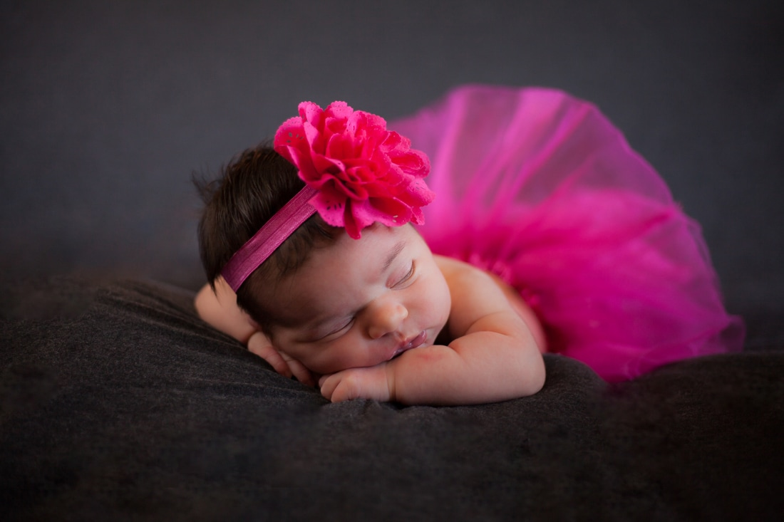 tampa florida newborn baby girl with pink tutu