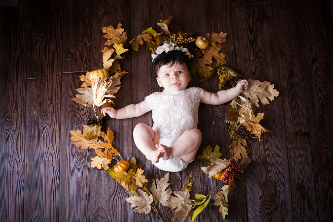 Fall Styled Baby Photography Fine Art Tampa