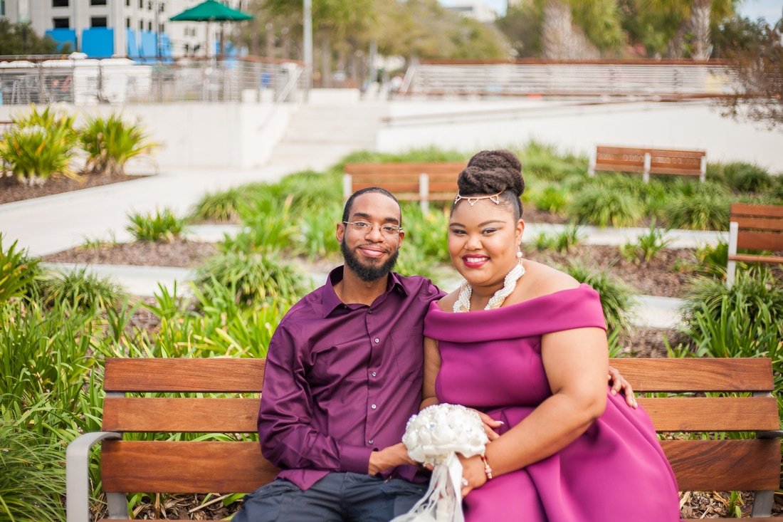 Curtis Hixon Park Tampa Engagement Photography